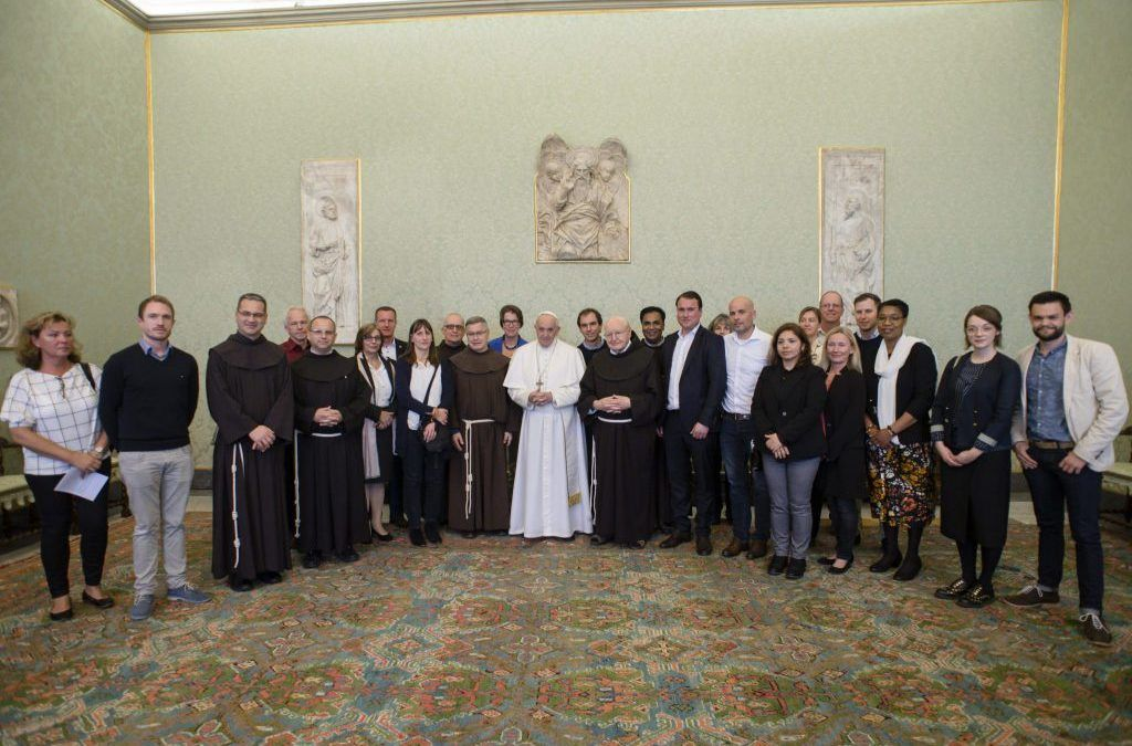 Pope Francis welcomes the Franciscan Mission Center (MZF) in Rome