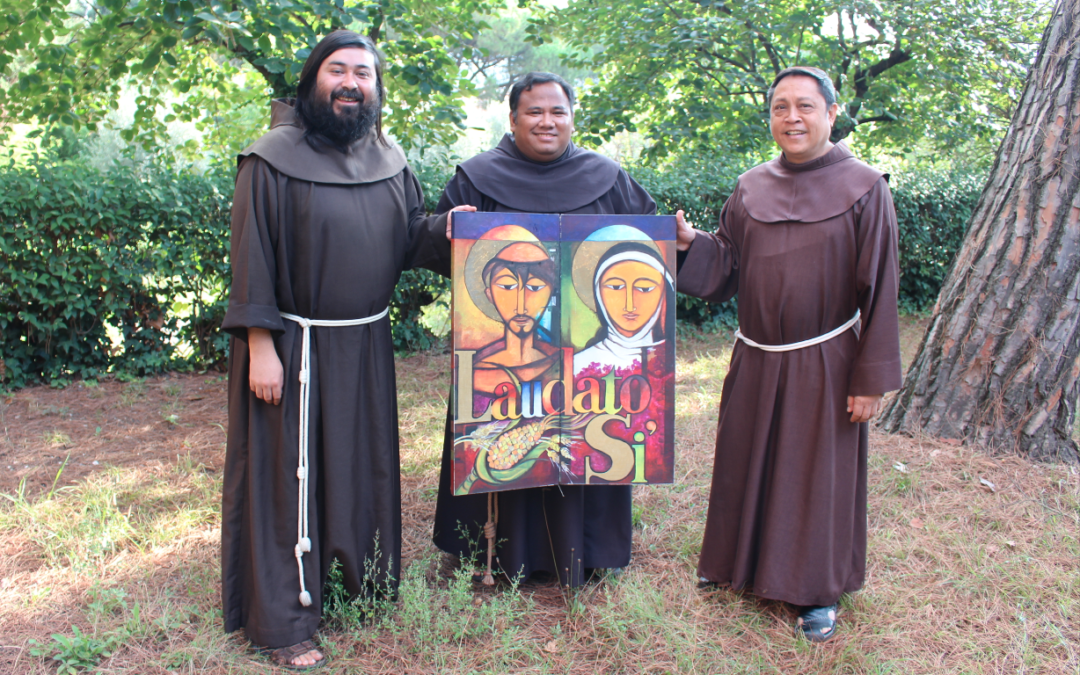 Laudato si' Pilgrimage Icon of Francis and Clare finally arrived in Asia.