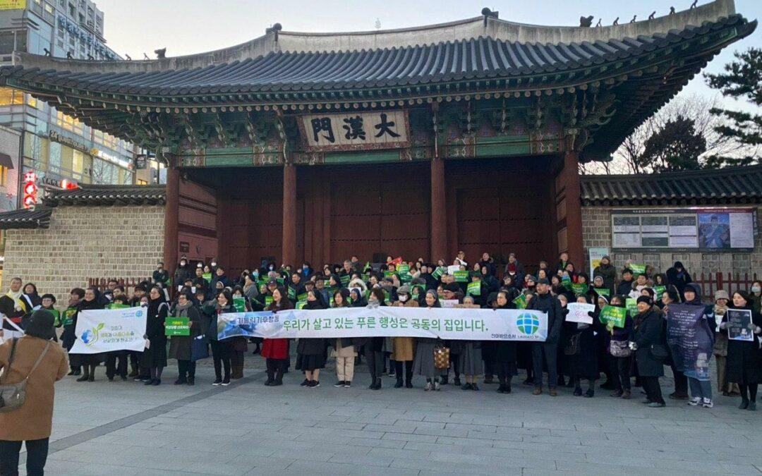 Movimiento climático de los franciscanos en Corea